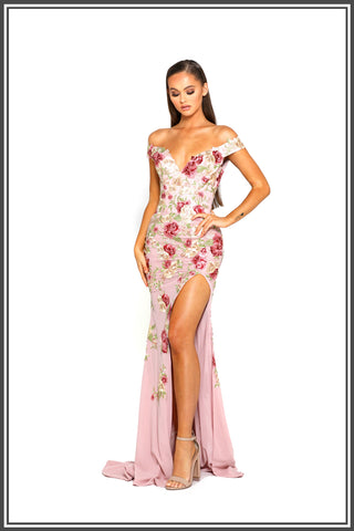 Portia and Scarlett Floral Gown