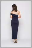 Bariano Fuscia Maxi Dress - Midnight Blue