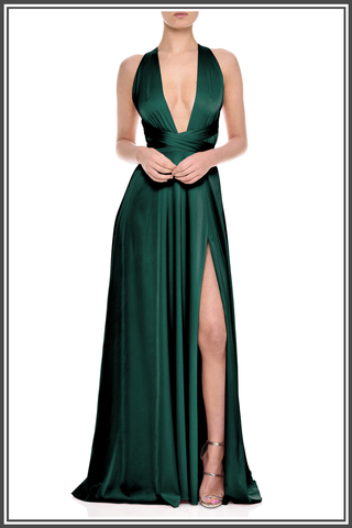 Emerald Gracie Maxi Dress by Nadine Merabi