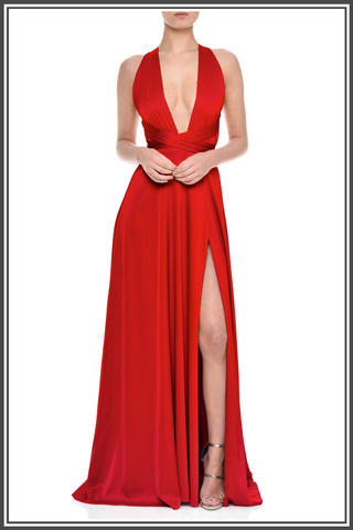 Red Nadine Merabi Maxi Dress