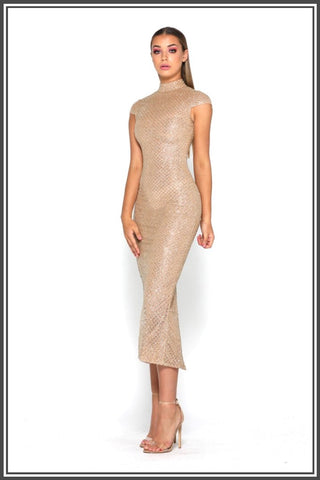 Honey Midi Dress - Gold