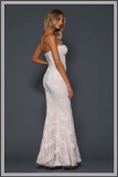 Haven Gown - White / Soft Pink