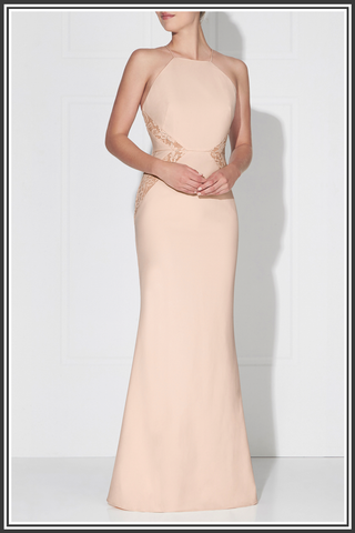 Love Honor Isabella Dress Champagne