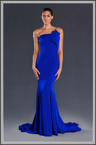 Zohra Gown by Jadore Cobalt Blue