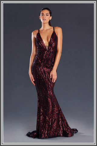 Jadore Jasper Dresses in Wine