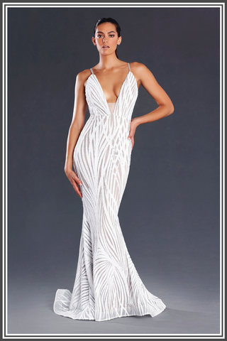 d812b92d77 Jadore Jasper Dress White - Jadore White Jasper Gown