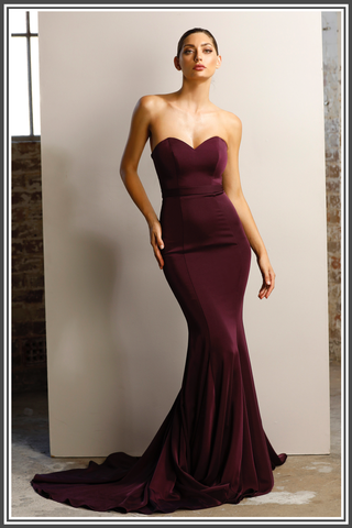 Jadore Emily Dress in Plum