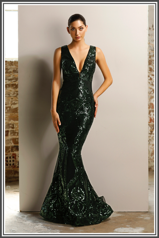 Jadore Paris Gown in Emerald