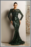Capri Gown - Emerald