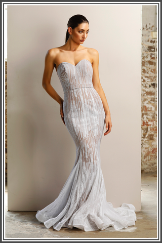 Vogue Gown - White / Nude