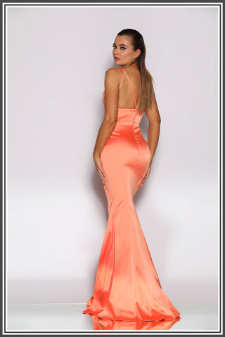 adc377a08f76 Jadore Dolce Dress in Coral / Orange - Jadore Dresses from Finique