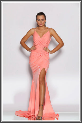 Jadore Carmen Gown in Floss Pink