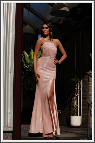 Jadore Jordan Dress in Pearl Pink
