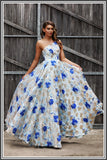 Daisy Blue Prom Dress