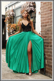 Meghan Black & Green Prom Dress