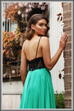 Meghan Gown - Black/Green