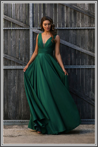 Jadore Cassie Dress in Emerald