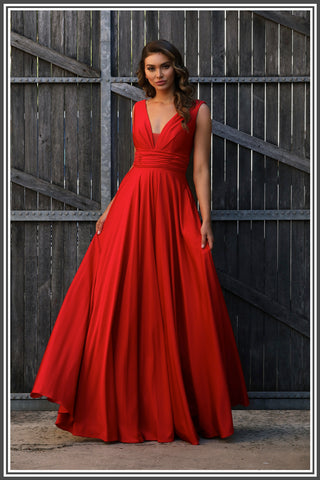 Cassie Gown Red