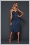 Janus Midi Dress - Blue Steel