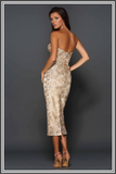 Jayce Midi Dress - Gold