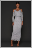 Kendra Long Dress - Ice Silver