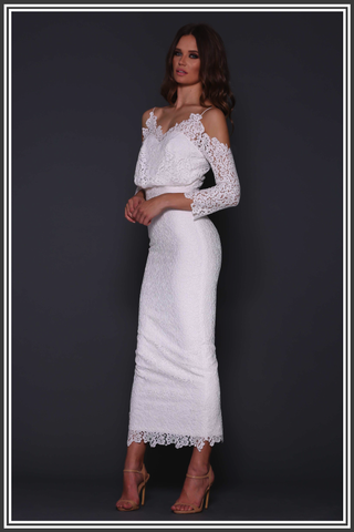 Kendra Long Dress - White