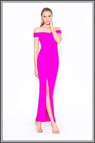 """Just As You Are"" Asymmetric Maxi Dress - Bright Purple"