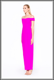 """Just As You Are"" Asymmetric Maxi Dress - Bright Purple and White"