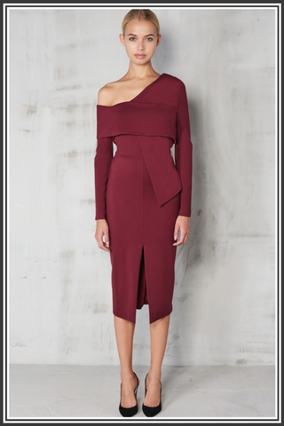Lavish Alice Dress - Wine