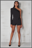 Lavish Alice Playsuit Black