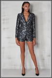 Lavish Alice Blazer Black Silver