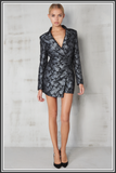 Lavish Alice Playsuit Black Silver