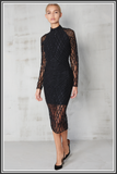 Lavish Alice Sequin Dress Black