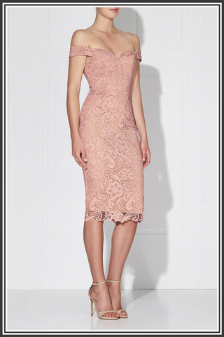 Stella Dress - Dusty Pink / Nude