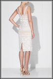 Allegra Midi Dress - Ivory / Nude