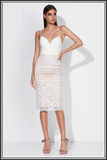 Love Honor Ivory Valentina Midi Dress