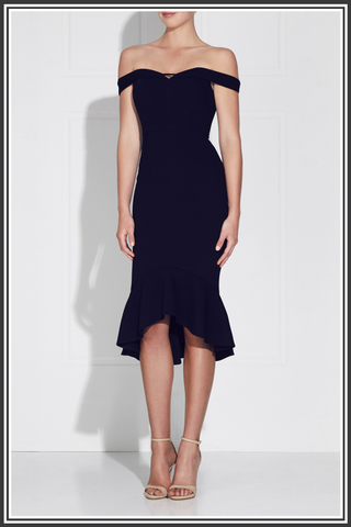 Rosetta Midi Dress - French Navy