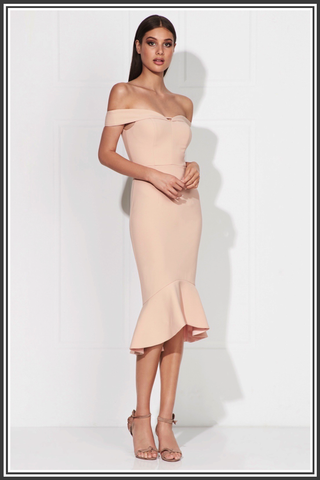 Rosetta Midi Dress - Powder Pink