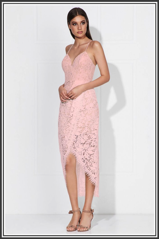 Lola Dress - Powder Pink / Nude