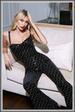 Hailey Jumpsuit - Black Velvet