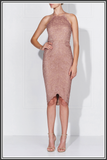 Lena Lace Dress - Dusty Rose