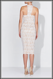 Lena Lace Dress - Ivory / Nude