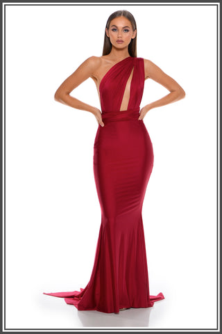 Portia and Scarlett Liliana Gown in Deep Red