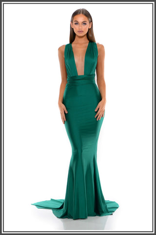 Portia and Scarlett Liliana Gown in Emerald