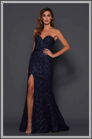 Lilyana Gown by Elle Zeitoune in Midnight Blue