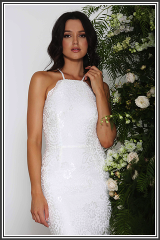 Elle Zeitoune Lori Dress White