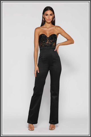Margarete Jumpsuit Black Lace