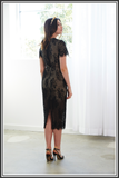 Marilyn Dress - Black / Nude