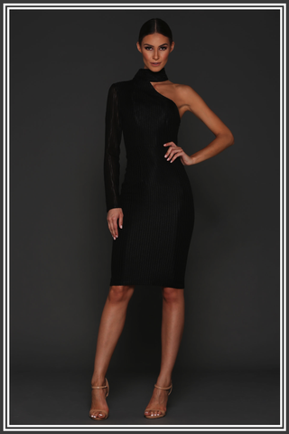 Marshal Midi Dress - Black