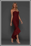 Maxwell Fishtail Dress - Merlot